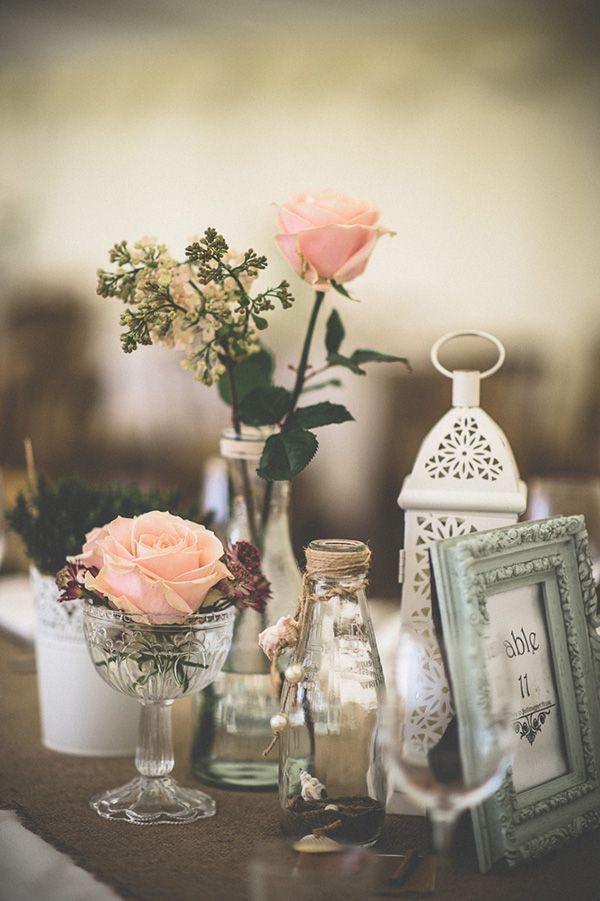 Homemade vintage διακοσμητικά γάμου.