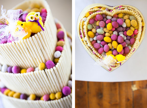 Φωτεινή παλέτα χρωμάτων για έναν γάμο με έμπνευση το Πάσχα.