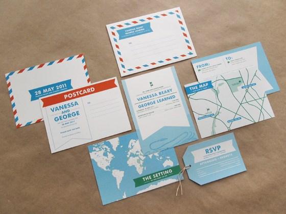 Καρτ ποστάλ προσκλητήριο.