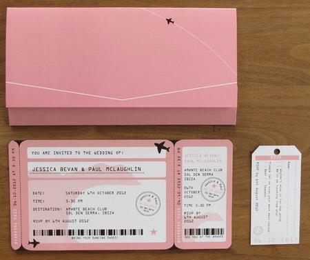 Προσκλητήριο σε αεροπορικό εισιτήριο.