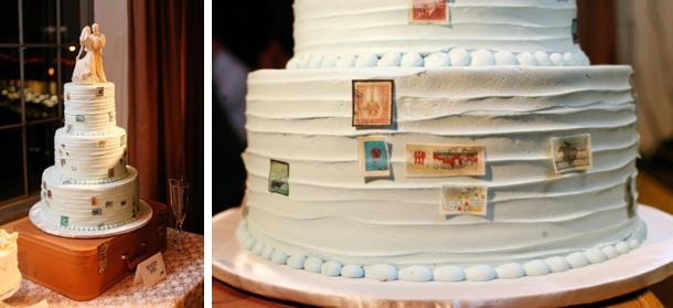 Γαμήλια τούρτα με θέμα το ταξίδι.